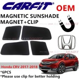 CARFIT OEM Magnetic Custom Fit Sunshade For Honda CRV Yr 2017-2018 (6pcs Sets)